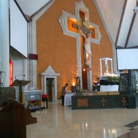 Photo taken at Gereja Katolik Redemptor Mundi by Sandy P. on 5/19/2013