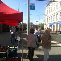 Photo taken at Palmovka (tram, bus, trol) by Richard M. on 5/16/2013