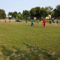 Photo taken at Рощинский стадион by Xenia on 7/9/2013