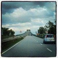 Photo taken at Hochbrücke Brunsbüttel by Maxim S. on 10/8/2012