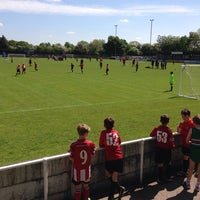 Photo taken at Trafford FC by Paul F. on 5/17/2014