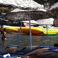 Photo taken at Alinda Beach Hotel Marmaris by TC Hamide G. on 7/25/2013