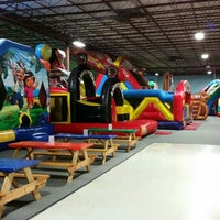 Photo taken at Bounce House Williamsburg by Sean W. on 9/4/2015