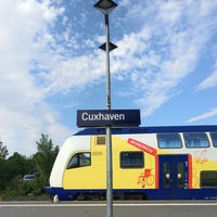 Photo taken at Cuxhaven railway station by Robert R. on 6/1/2016