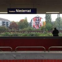 Photo taken at Frankfurt Niederrad Railway Station by Robert R. on 10/21/2015