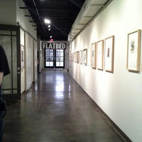 Photo taken at Flatbed Press & Gallery by Karin B. on 12/3/2013