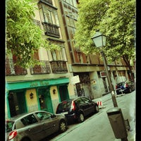 Photo taken at Calle Churruca by Blanca T. on 5/19/2013