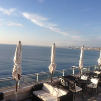 Photo taken at Rooftop Pool @ Le Méridien Nice by Indah H. on 11/25/2012