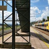 Photo taken at Estação de Cête by Delfim B. on 9/20/2014