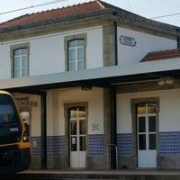 Photo taken at Estação de Cête by Delfim B. on 5/18/2015