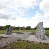 Photo taken at Korean War Memorial Ghlin Medical Base (글린 한국전 참전비) by Christian S. on 5/7/2014