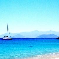 Photo taken at Agios Prokopios Beach by Daisy T. on 6/19/2013