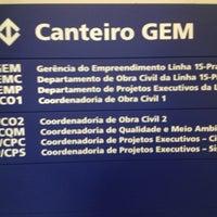 Photo taken at Gem - Escritorio Metrô by Dinho F. on 8/20/2014