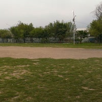 Photo taken at Campo de la Lauro (Falcon Stadium) by Calex R. on 2/25/2014