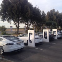 Photo taken at Tesla Supercharger Station by Daniel P. on 6/16/2014