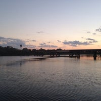 Photo taken at Crane Creek Promenade Manatee Observation Area by Özge A. on 10/12/2013