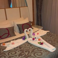 Das Foto wurde bei Q Premium Resort Hotel Alanya von Serdar A. G. am 7/2/2013 aufgenommen