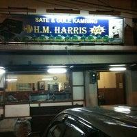 Photo taken at Sate & Gule Kambing H.M. Harris by Henry S. on 3/3/2013
