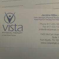 Photo taken at Vista Physical Therapy by Marshal C. on 7/29/2013