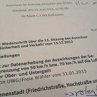 Photo taken at Rathaus Krefeld by Manuel K. on 6/11/2013