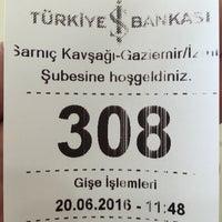 Photo taken at Türkiye İş Bankası by Ozgur K. on 6/20/2016