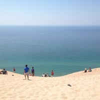 Photo taken at Dune Climb - Sleeping Bear Dunes by Minna N. on 7/6/2013