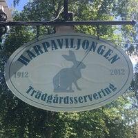 Photo taken at Café Harpaviljongen by heidi h. on 7/4/2014