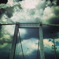 Photo taken at Elisabeth Bridge by Halesz on 6/20/2013