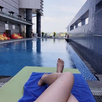 Photo taken at Pullman Swimming Pool Saigon by Amy C. on 4/7/2018