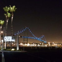 Photo taken at Vincent Thomas Bridge by irly k. on 9/14/2013
