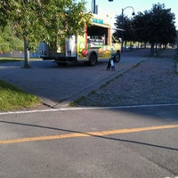 Photo taken at Esplanade du Centenaire, Canal Lachine by Andrew C. on 6/14/2013