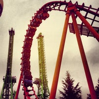 Photo taken at Six Flags New England by JPZ I. on 7/14/2013