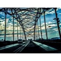 Photo taken at Мост через Оку на трассе М5 by Pasha K. on 11/4/2014