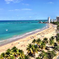 Photo taken at Isla Verde Beach - Balneario Isla Verde (La Playa) by TURBORICUA on 1/20/2013