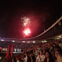 """Photo taken at Stadion """"Rajko Mitić"""" by Vanja B. on 6/15/2013"""