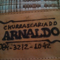Photo taken at Churrascaria do Arnaldo by Mércio R. on 6/12/2013