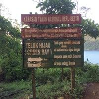 Photo taken at Teluk Hijau (Green Bay) by Ruve N. on 4/1/2018