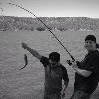 Photo taken at Scotts Flat Lake by Giovanni P. on 10/17/2013