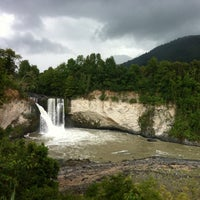 Photo taken at Saltos del nilahue by Rodrigo T. on 12/6/2012