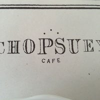 Photo taken at chopsuey by Persis T. on 1/27/2013