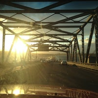 Photo taken at Evergreen Point Floating Bridge by Justin B. on 3/21/2013