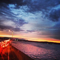 Photo taken at Evergreen Point Floating Bridge by Justin B. on 8/11/2013