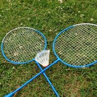 Photo taken at Badmintonplein by Anja M. on 6/16/2013