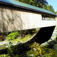 Photo taken at South Newfane Covered Bridge by John & Donna S. on 9/25/2013