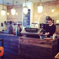 Photo taken at Kitsuné Espresso Bar Artisanal by Natasha on 11/4/2013