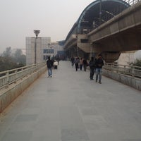 Photo taken at Anand Vihar Metro Station by Feroz Khan H. on 1/4/2014