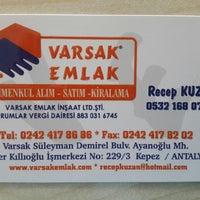 Photo taken at Varsak Emlak by Recep K. on 6/4/2014