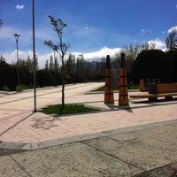 Photo taken at Plaza de Armas de Puerto Natales by Stephanie G. on 10/28/2012