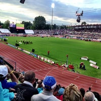 Photo taken at Stade olympique de la Pontaise by Carsten B. on 7/4/2013