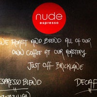 Photo taken at Nude Espresso by Sean R. on 1/21/2013